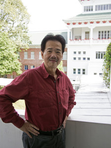 Lee Yung-ping on the campus of Nanyang Technological University